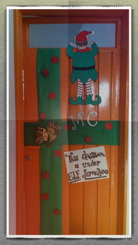 Classroom Under Elf Surveillance Door Christmas At School