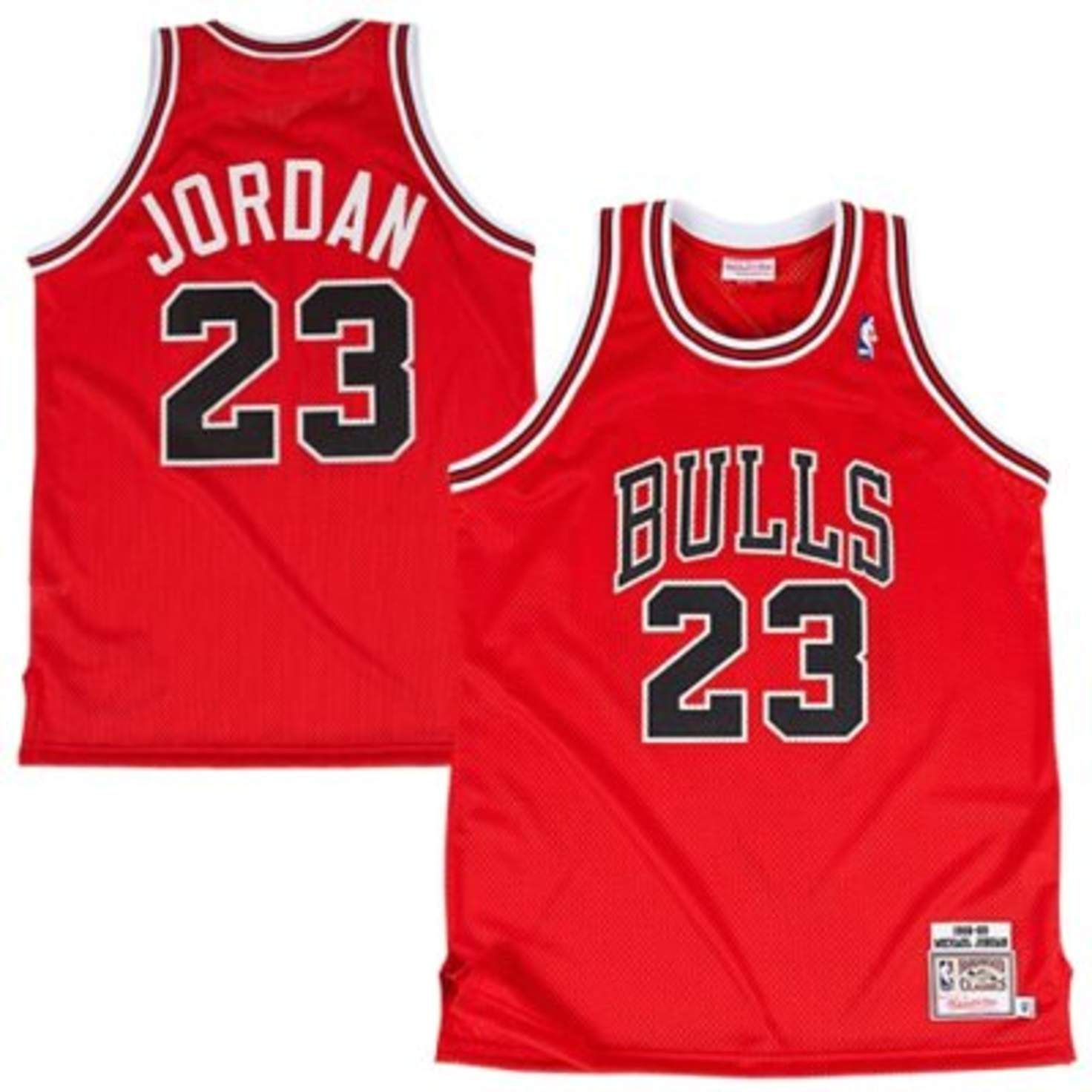 41121cdff4b Mens Mitchell & Ness Michael Jordan Red Chicago Bulls 1988-89 The Shot  Hardwood Classics Authentic Vintage Jersey