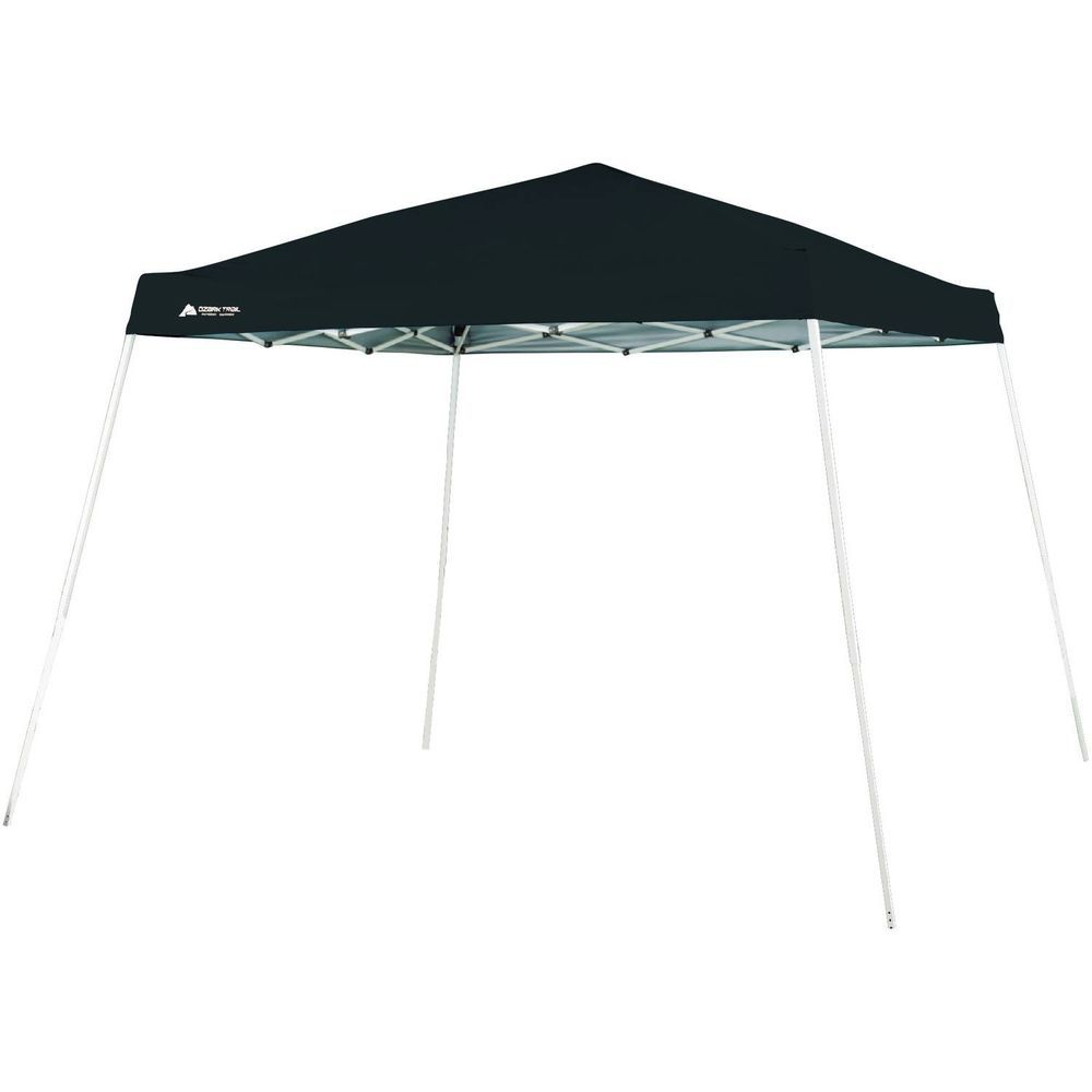10 Foot Instant Slant Leg Canopy Shade Shelter Party Tent Outdoor Event Black Ozarktrail Ozark Trail Instant Canopy Canopy Outdoor