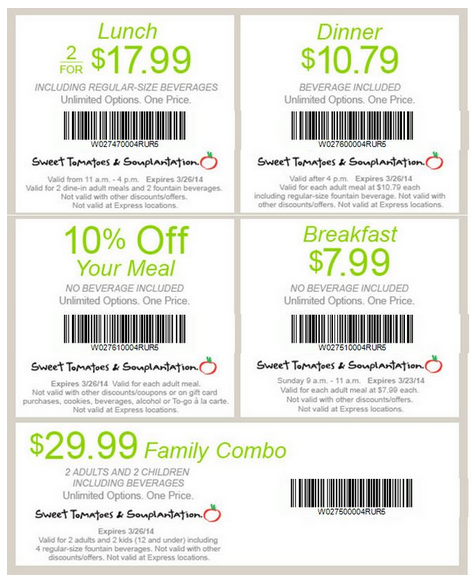 Details: Get $25 Off $ Catering 10 Person Minimum using this Sweet Tomatoes coupon code.
