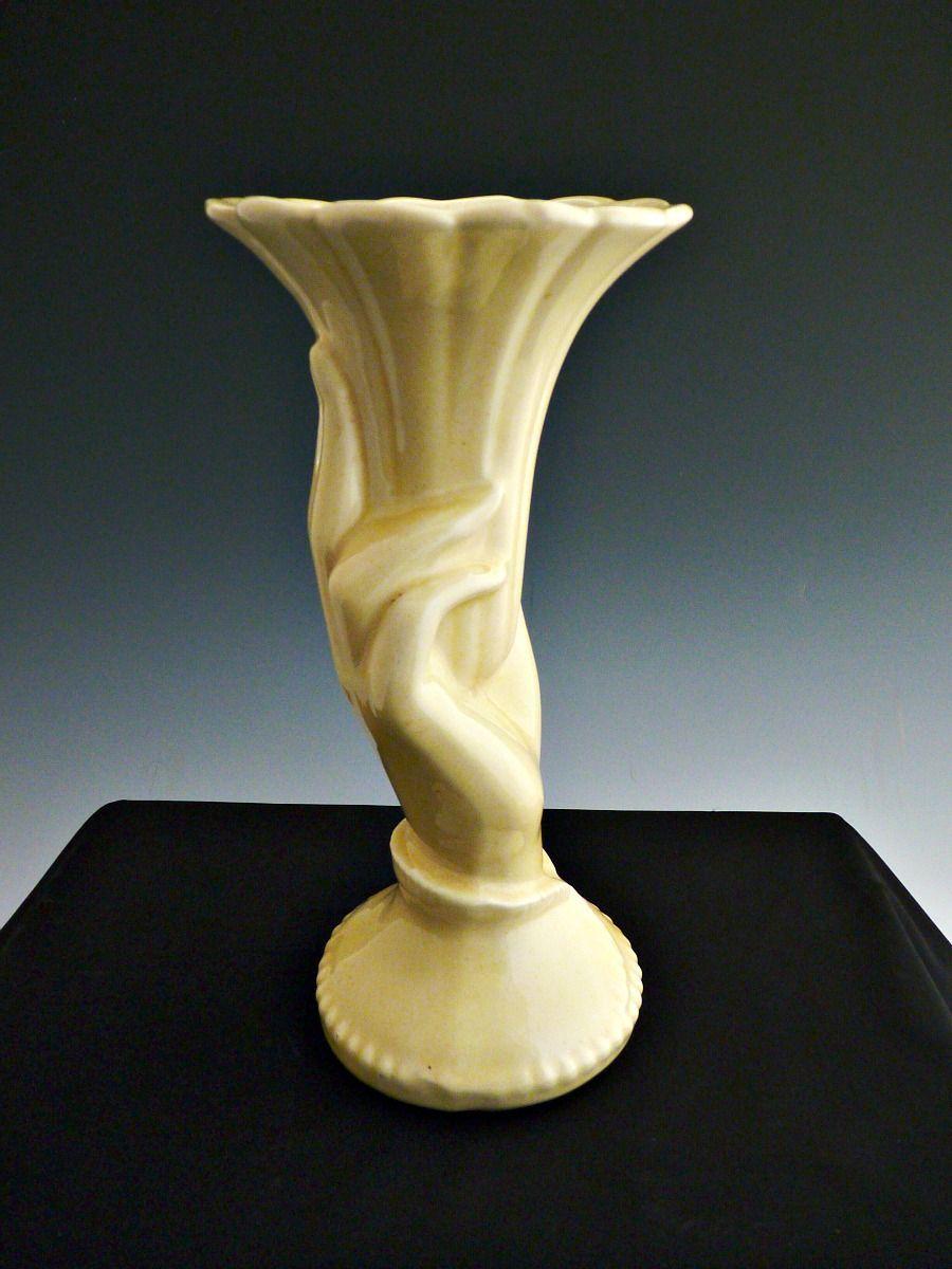 Vintage hand vase yellow mccoy pottery mid century american vintage hand vase yellow mccoy pottery mid century reviewsmspy