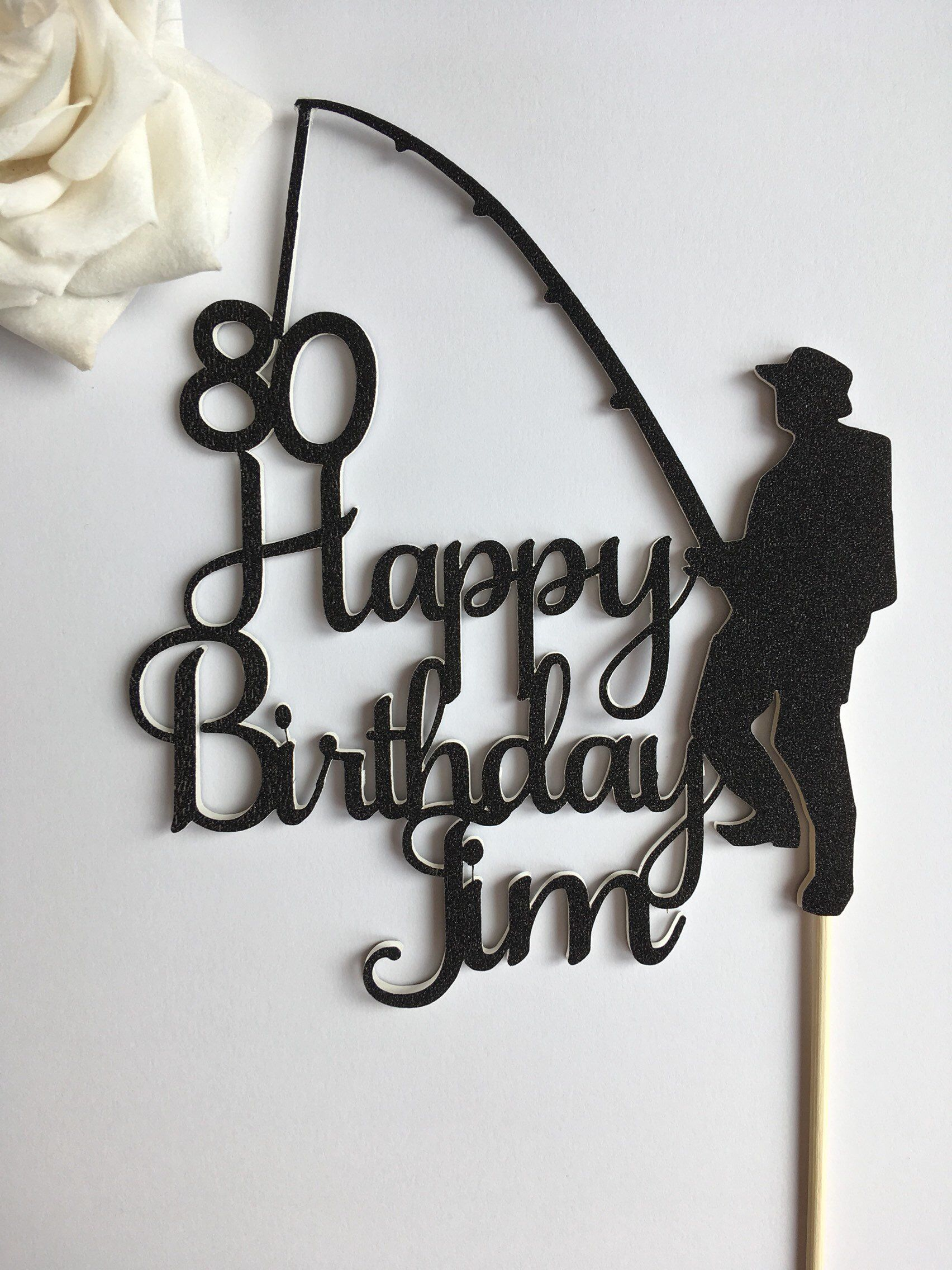 Stupendous Fishing Cake Topper Personalised Fishing Cake Topper Male Funny Birthday Cards Online Eattedamsfinfo