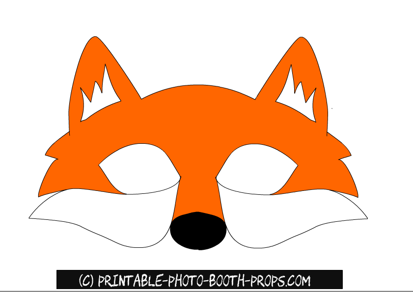 Gorgeous image with fox mask printable