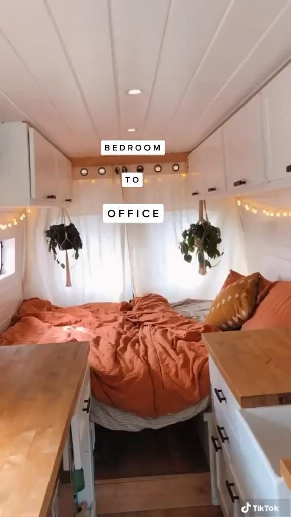Photo of Bed to Office conversion in a Campervan