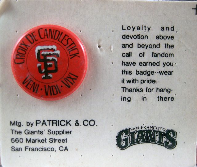 Croix De Candlestick Giants Fans Sf Giants Giants Baseball