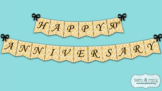 happy anniversary banner anniversary party decoration gold