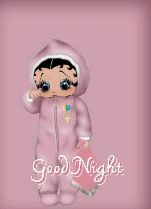 Awww Good Night With Images Betty Boop Baby