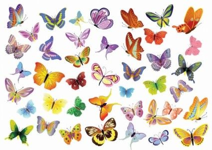 Set Free Vector de Decoraci�n Mariposas