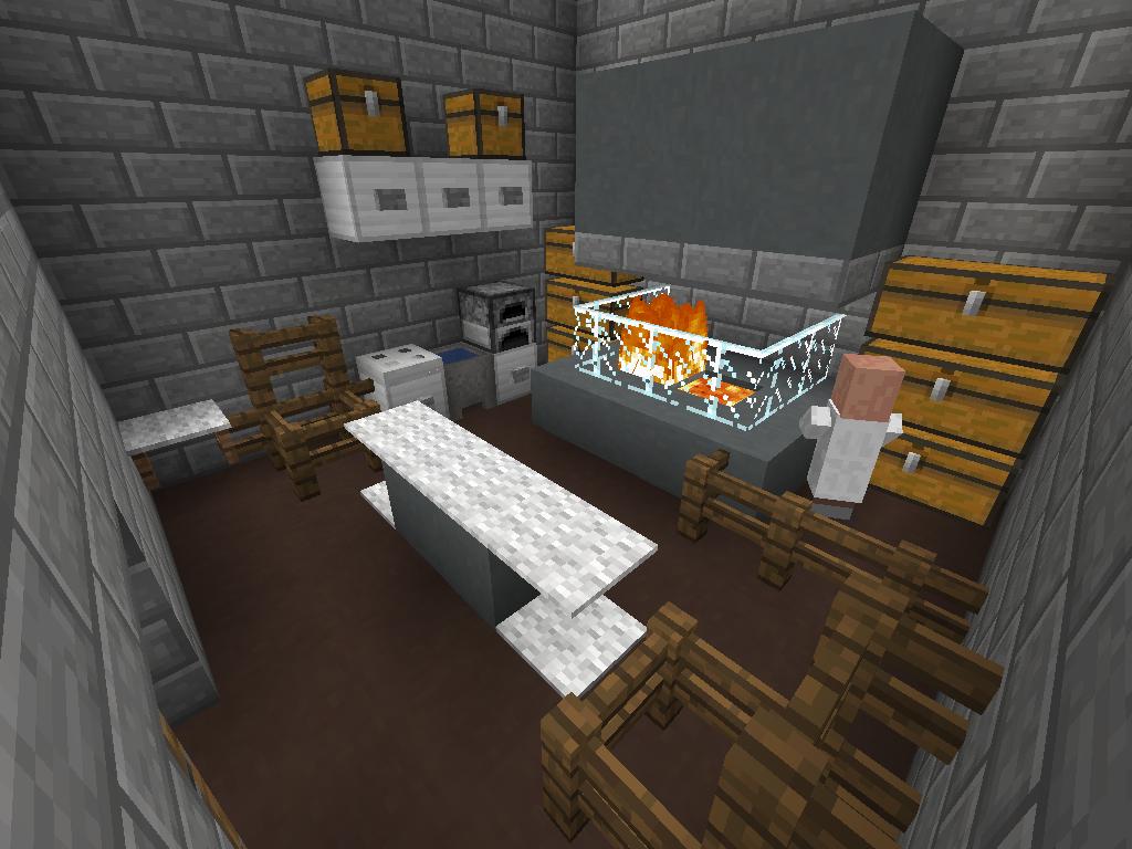 Minecraft Kitchen Minecraft House Kitchen Casa Cocina Minecraft Pinterest