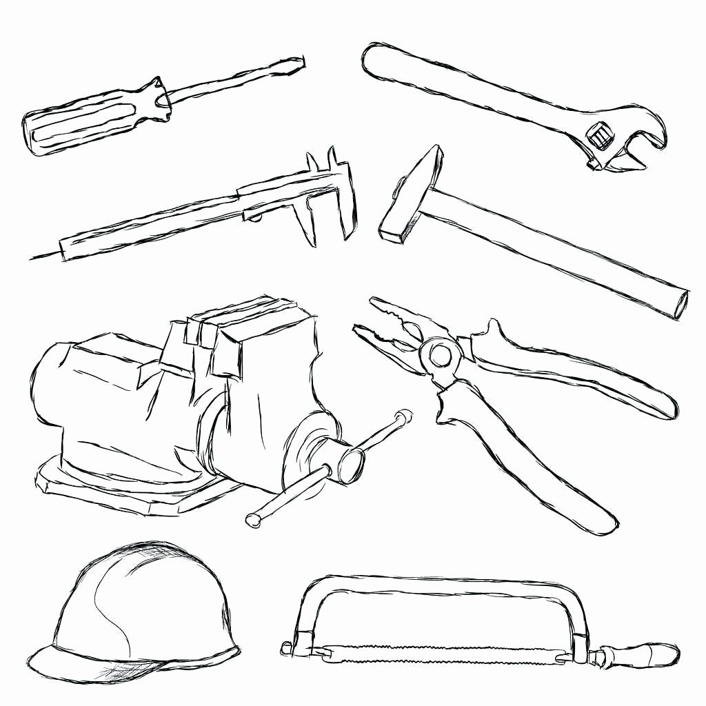 Coloring Page Of Tools Awesome Tool Box Coloring Pages Hitcolor