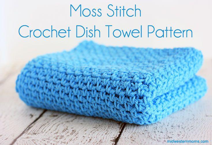 Moss Stitch Crochet Dish Towel Pattern Pinterest Crochet Dish