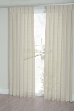 house of happiness gordijn maran 15 open geweven vitrage met een natuurlijk ogende linnenlook