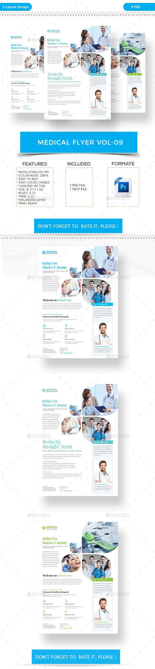 medical flyer vol 9 flyers print templates flyer templats