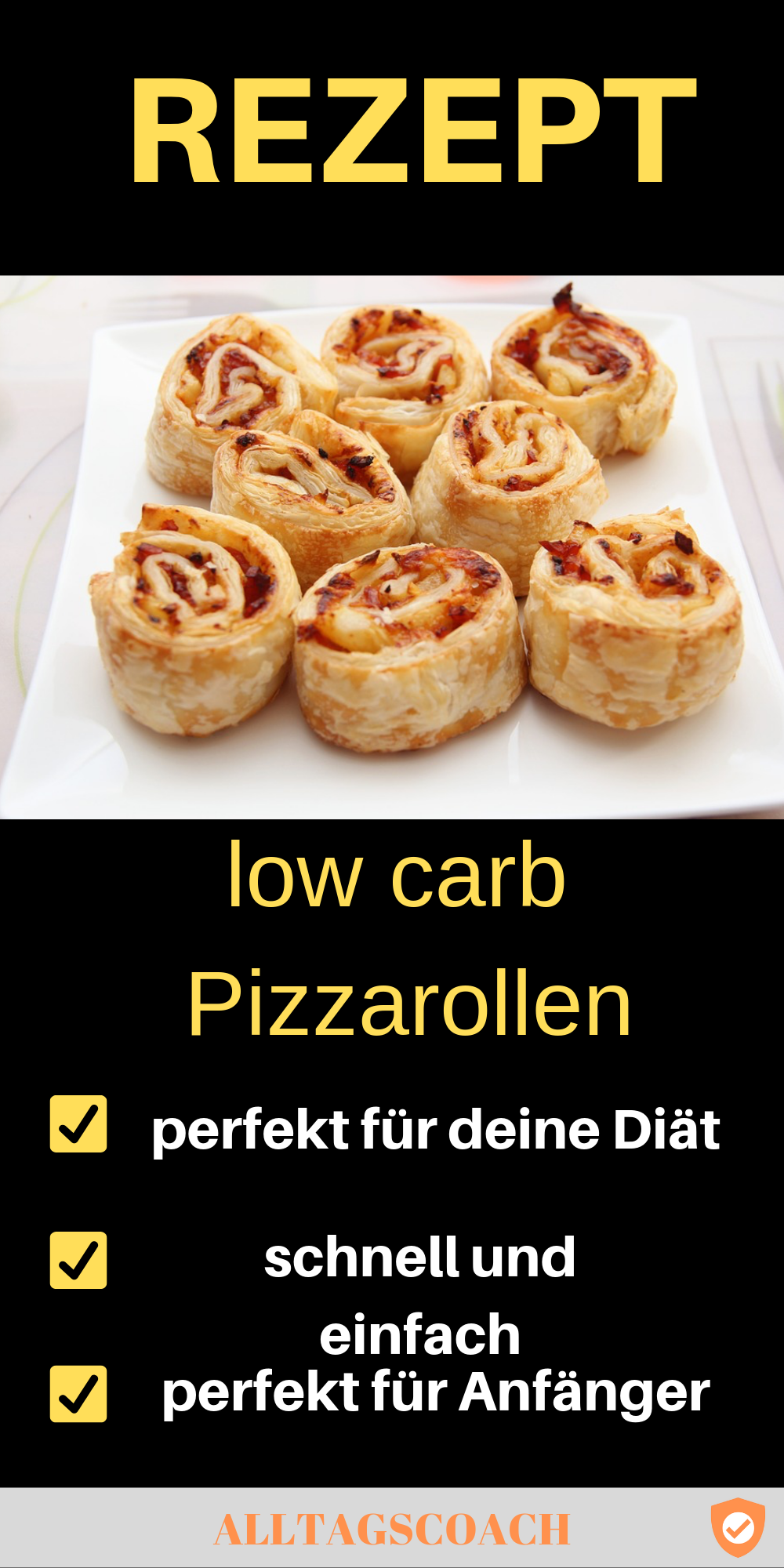 Pizzarollen low carb