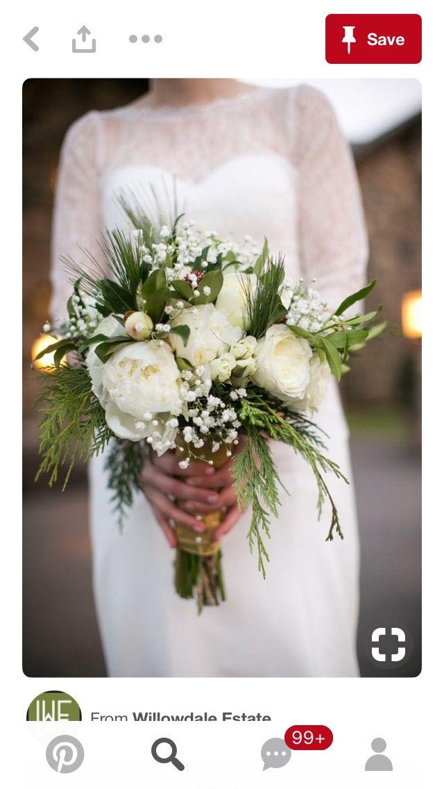 Pin By Kristen Edwards On Flowers Winter Wedding Bouquet
