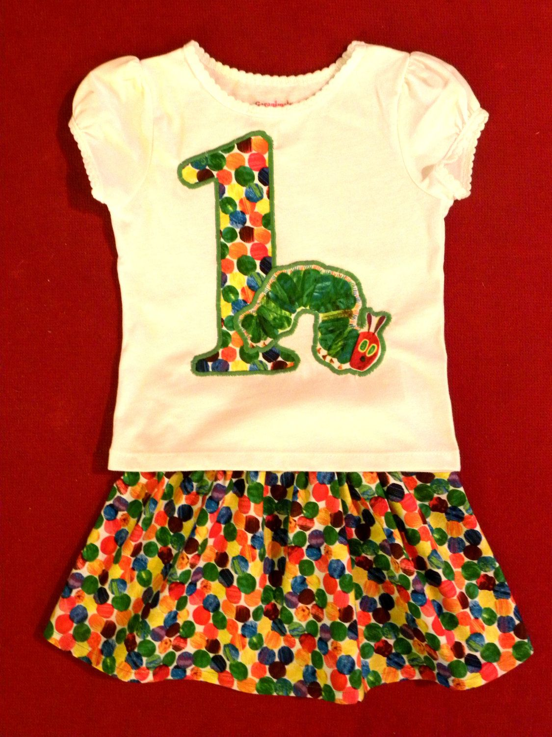 Very Hungry Caterpillar - Eric Carle- Birthday girl outfit. $35.00 ...
