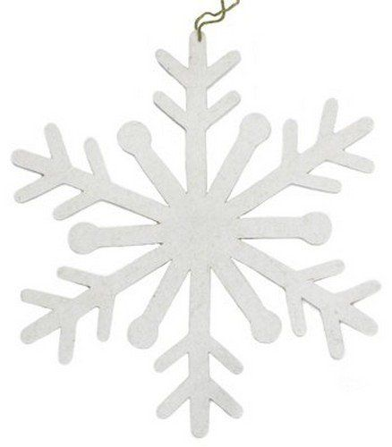 Arcadia Home OF1S12 Wool Snowflake Ornaments Set Of 12