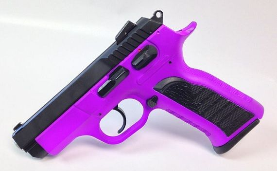 This one for sale is a Hot (Passion) Purple EAA Witness P 9mm handgun
