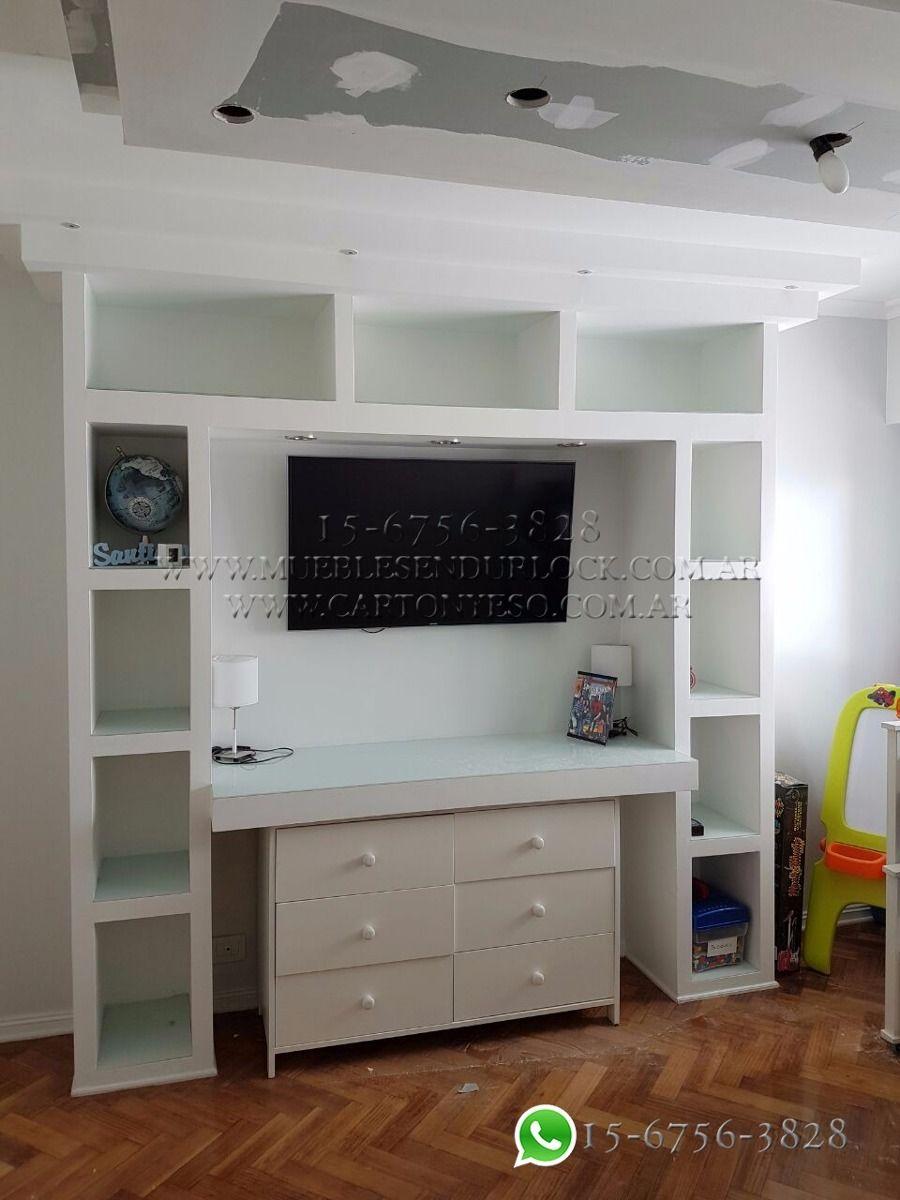 Resultado de imagen para muebles con durlock ideas habitaci n pinterest decoraci n para - Mueble tv habitacion ...