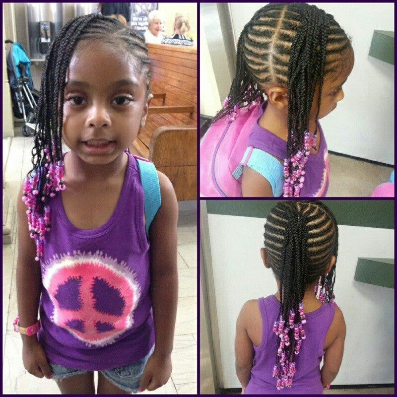 Remarkable Little Girl Braided Hairstyle Super Cute Fashion Amp Style Short Hairstyles Gunalazisus