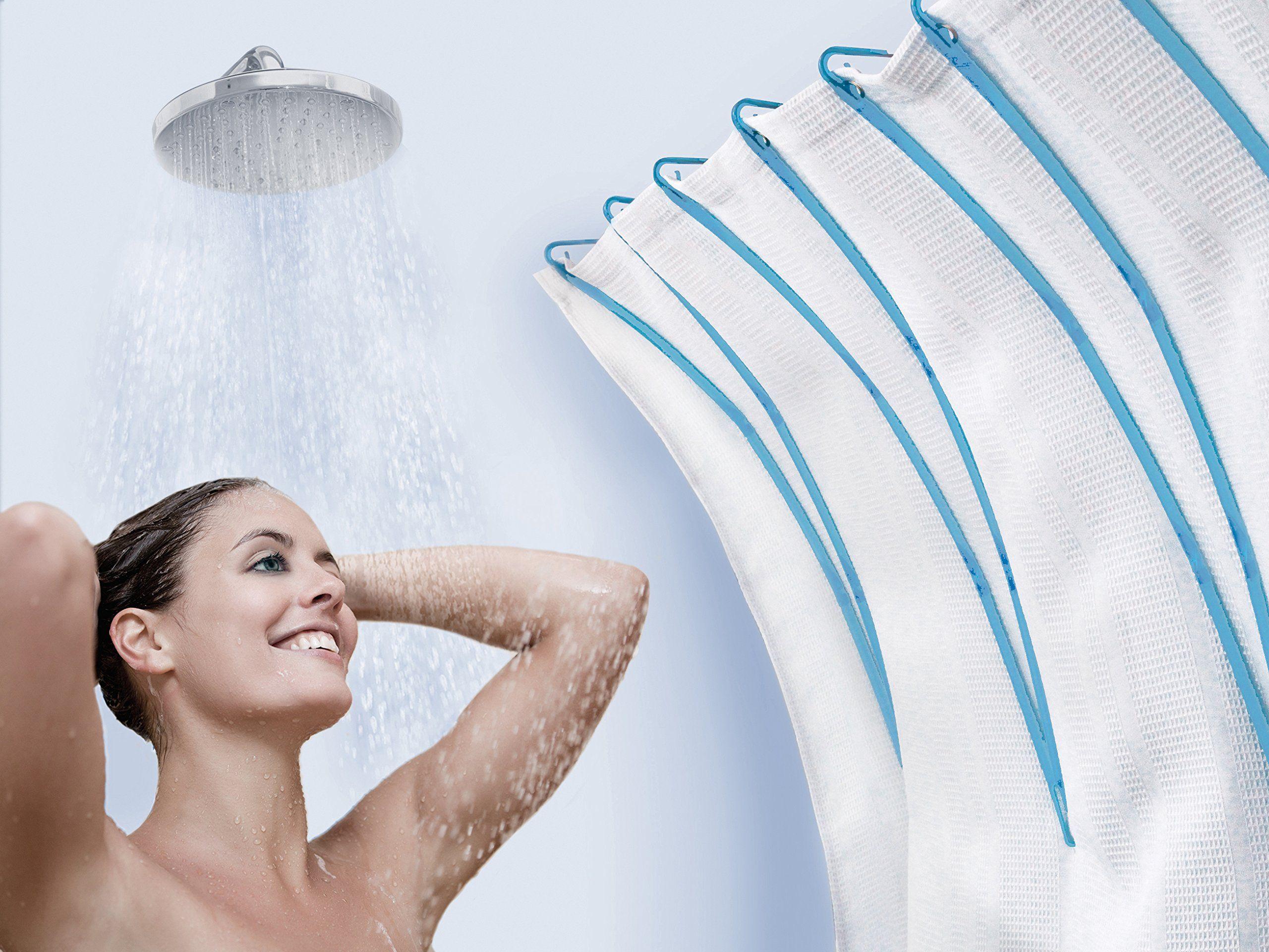 Curvit - Simple Curved Shower Rod Alternative - Stylish Set of 12 ...