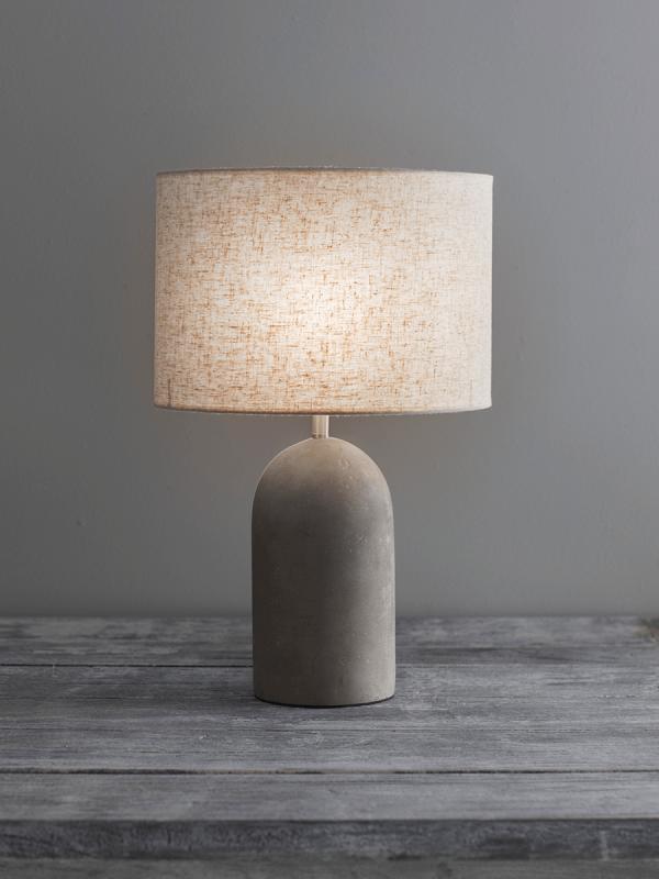 New Concrete Linen Table Lamp Concrete Table Lamp Diy Table Lamp Table Lamp Design