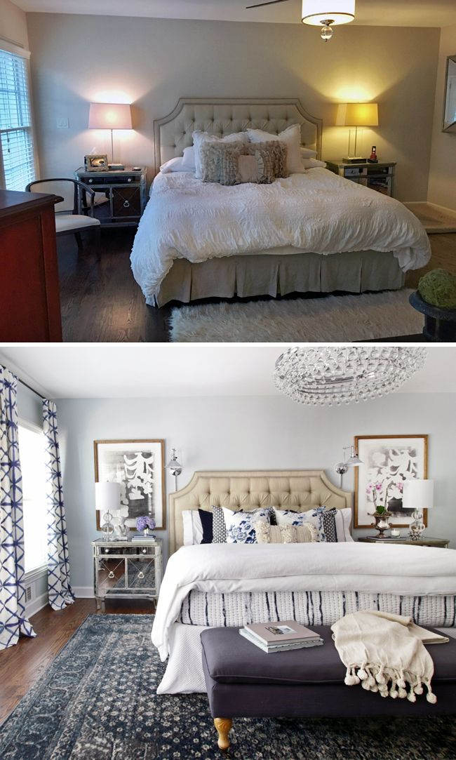 Amazing One Room Challenge Master Bedroom Makeover By Hunted Interior // Before And  After