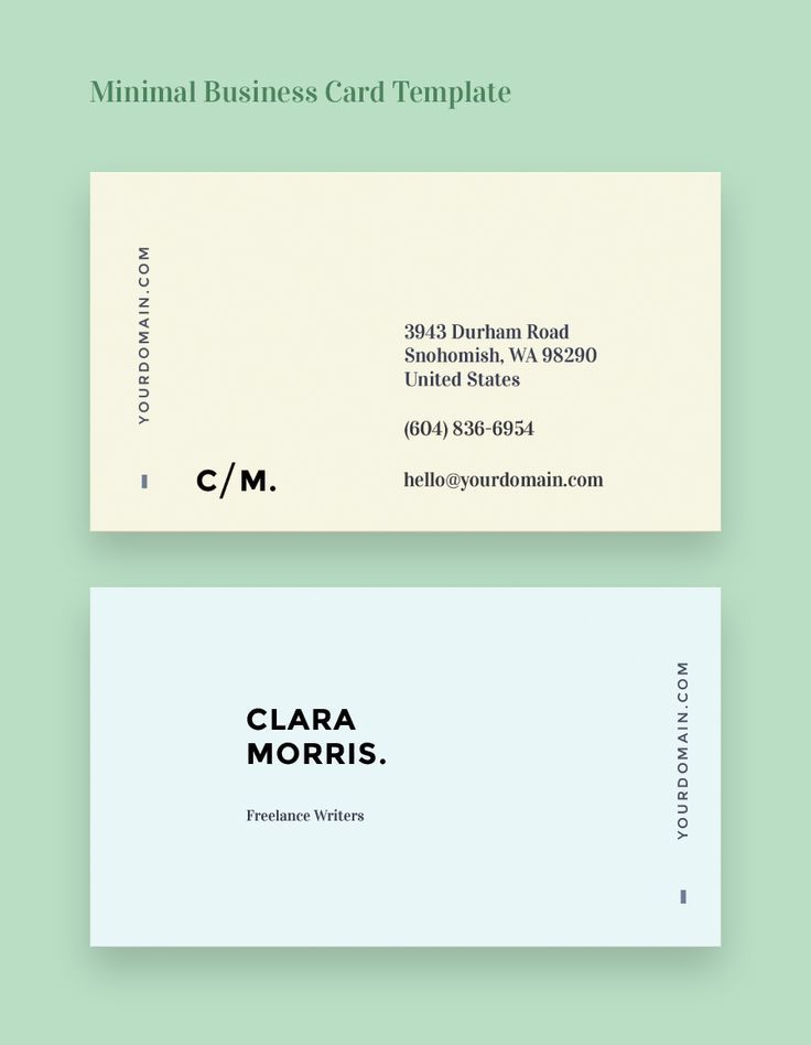 Minimal business card template minimal business card card minimal business card template more flashek Choice Image