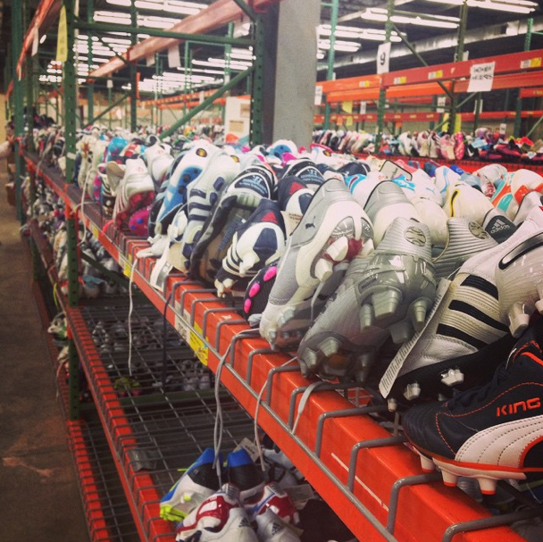 sneak peak for our warehouse sale #Soccerdotcom | Behind The ...