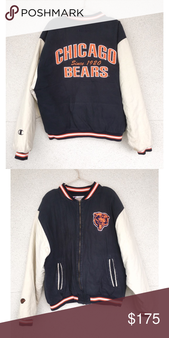 Nfl Chicago Bears Men S Retro Champion Jacket Clothes Design Champion Jacket Cute Outfits
