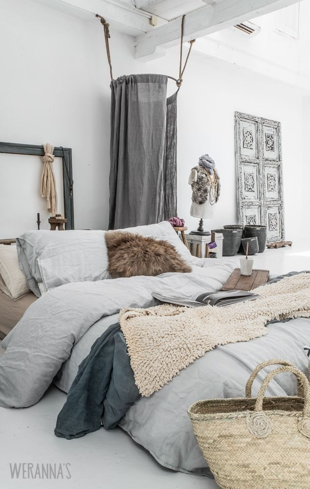 Grey and white bedroom | Home Decor in 2019 | Bohemian style ...