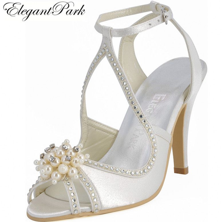 afc1770737 White Wedding Shoes Ankle Straps | νυφικα παπουτσια | White wedding ...