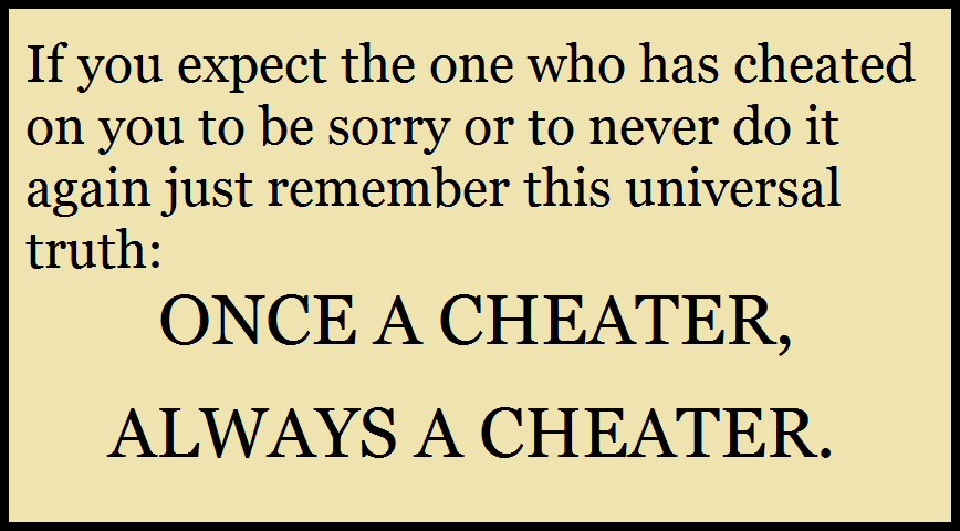 Cheaters will always cheat