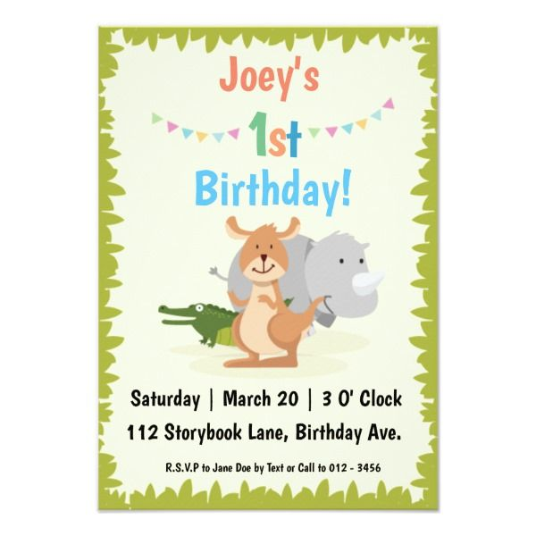 animal themed children s birthday party invitation cards birthday
