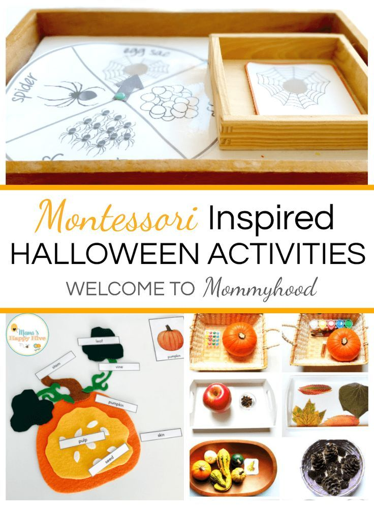 Montessori Halloween Activities Pinterest Montessori, Activities - halloween activities ideas