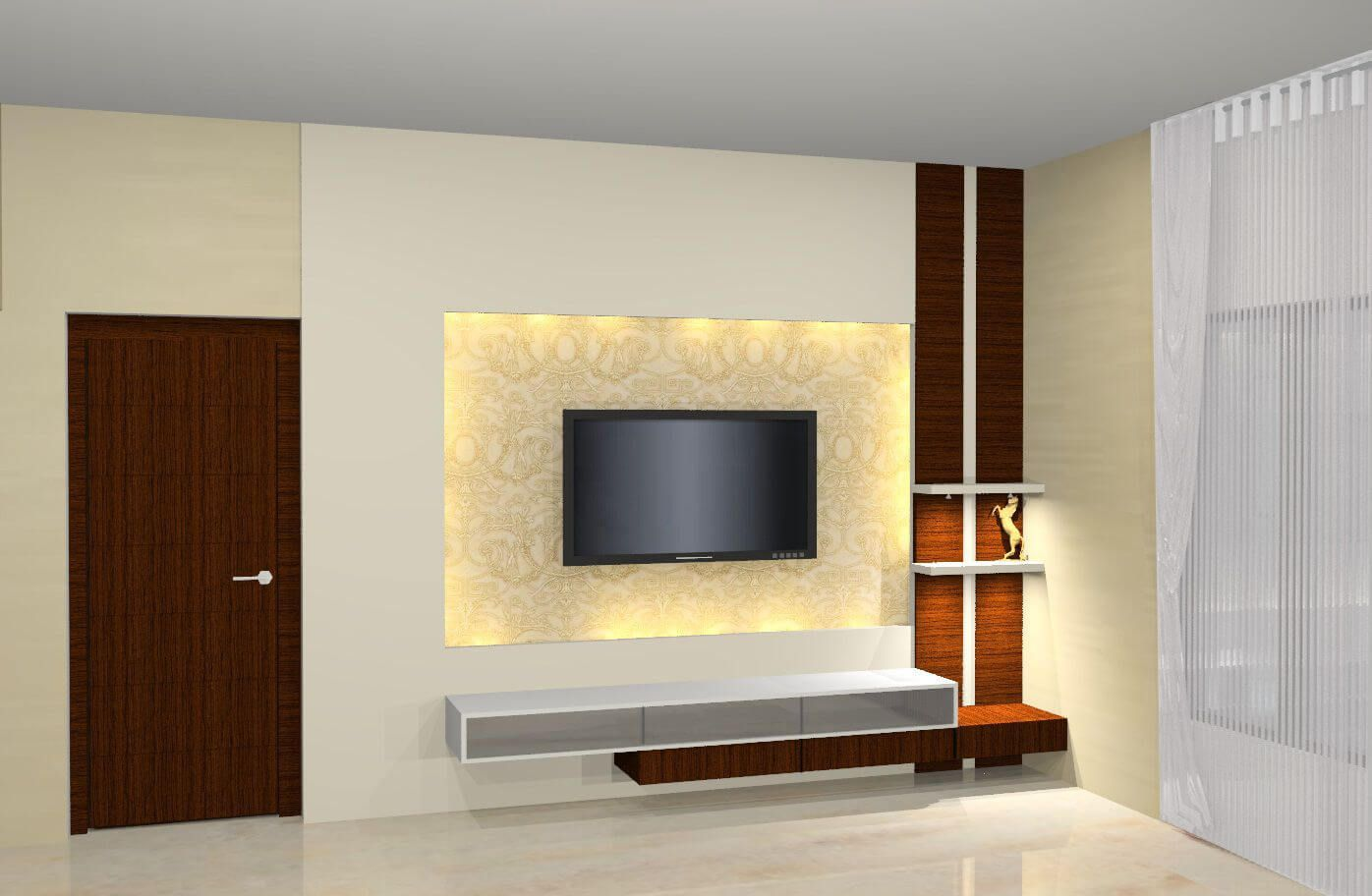 35 Stylish Led Tv Wall Panel Designs For Your Living Room Wall Tv Unit Design Modern Tv Wall Units Wall Unit Designs