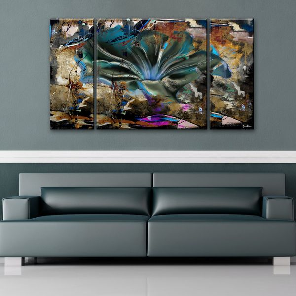 overstock.com $129 Ready2HangArt \'Painted Petals LVIII\' 3-piece ...