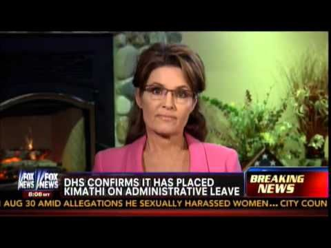 "VIDEO: SARAH PALIN CALLS FOR THE FIRING OF RACIST, HATE-MONGERING DHS EMPLOYEE WHO WANTS TO KILL WHITE PEOPLE - ...Ayo Kimathi wants a race war, hates gays. - Obama's crew have been calling patriotic Americans: members of the U.S. military, and the Tea Party ""terrorists"" but as it turns out, it's their own people who are the terrorists. This racist Obama employee, whose website was approved by his supervisors at DHS, says he wants to ""kill a lot of whites"" among other things. [...] 08/24"