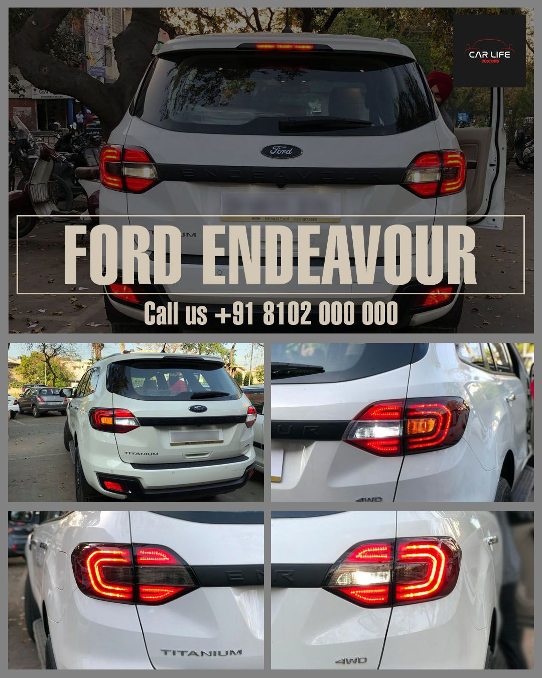 Best Branded Car Seat Covers In Chandigarh New Ford Endeavour Has