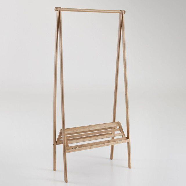 Portant Pliable Avec étagère Bambou La Redoute Interieurs La - Portant vetement en bois