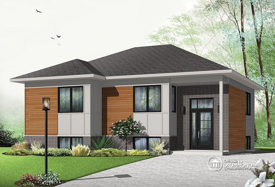 Détail du plan de Maison unifamiliale W3323-V2 Plans maison