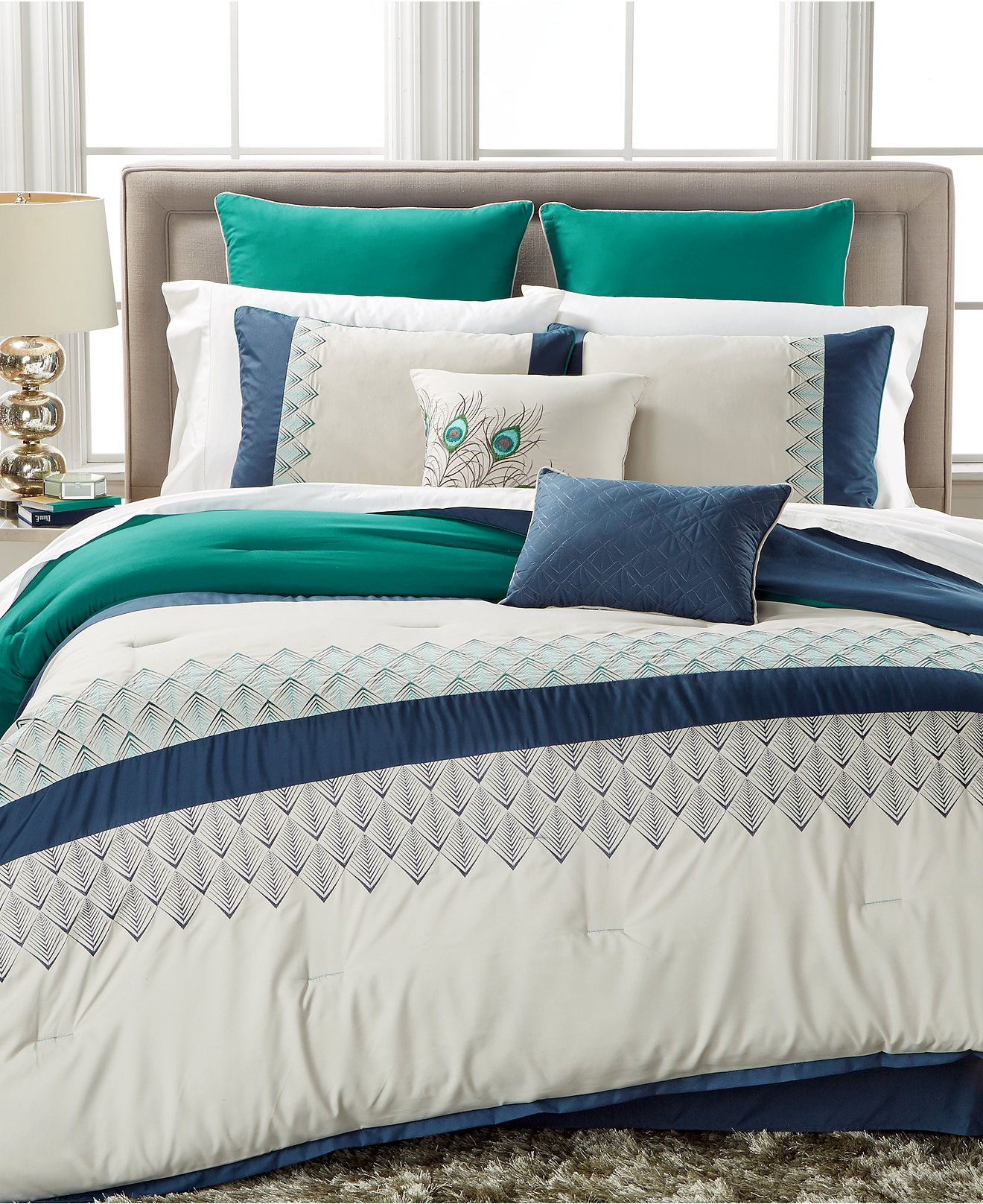 Closeout Rollins 8 Pc Comforter Set Only At Macy 39 S Bed In A Bag Bed Amp Bath Macy 39 S Comforter Sets Macys Bedding King Comforter Sets King size comforters on sale