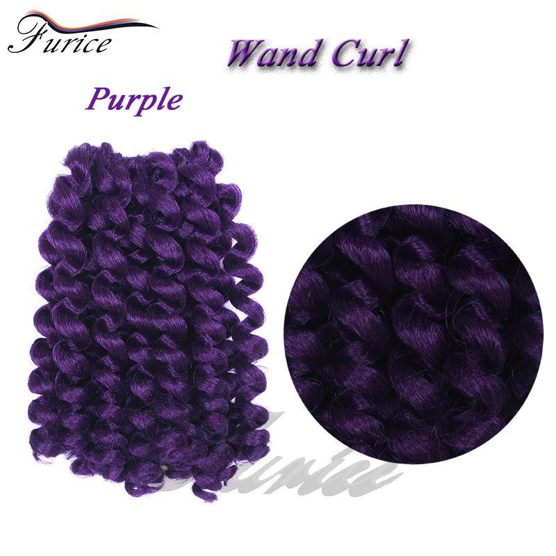 Wand Curl Crochet Hair Extensions Ombre Kinky Twist Hair Crotchet
