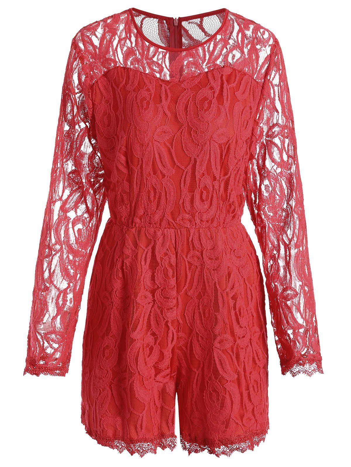 Pink see through lace dress  Lace Panel See Thru Plus Size Romper  Sammy dress and Shopping
