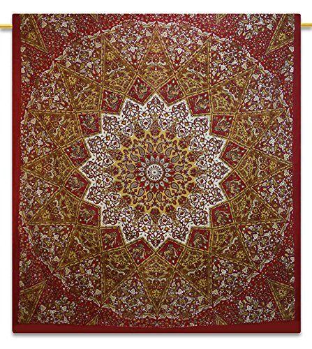Hippie Wall Art Bohemian Tapestry Mandala Dorm Room Full Size 92X82 Indian Gift ibaexports http://www.amazon.com/dp/B00OYU2802/ref=cm_sw_r_pi_dp_JQpWvb0B2W8CT