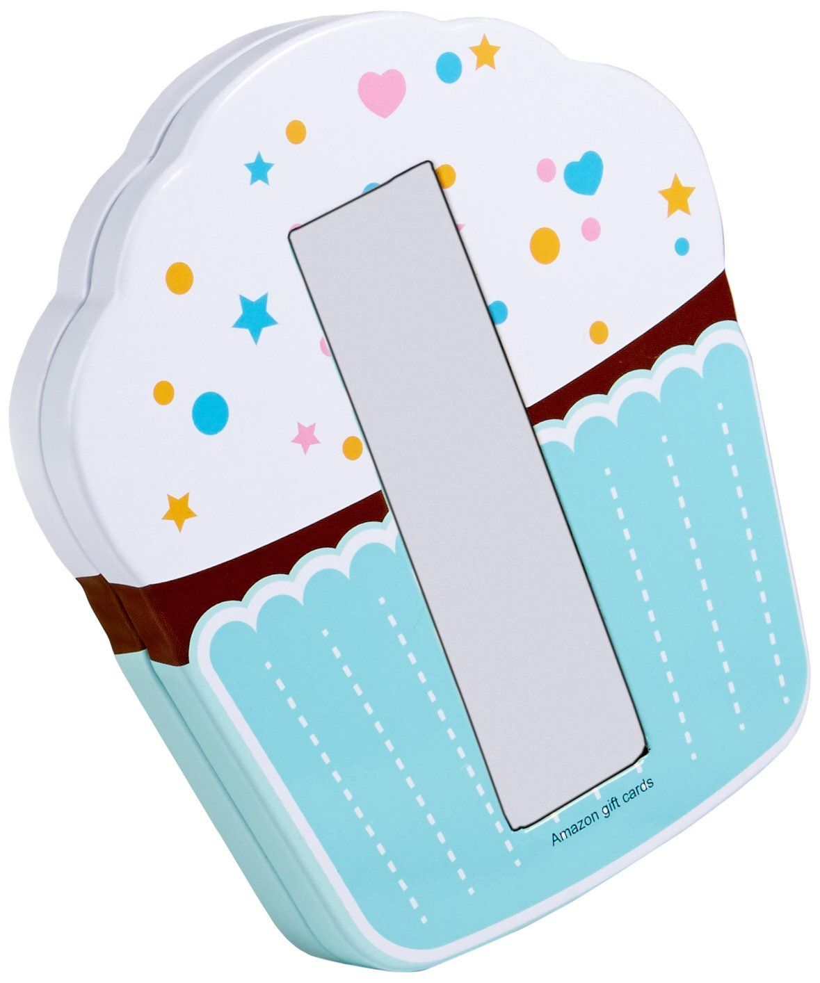 Gift card in a birthday cupcake tin gift card is nested
