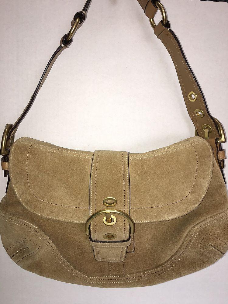 76d6a32f11 Coach Soho Camel Tan Suede / Leather Trim #Hobo Handbag #Coach #Hobo