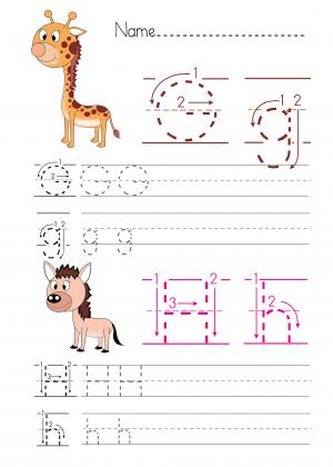 alphabet practice g h alphabet free printable worksheets and printables. Black Bedroom Furniture Sets. Home Design Ideas