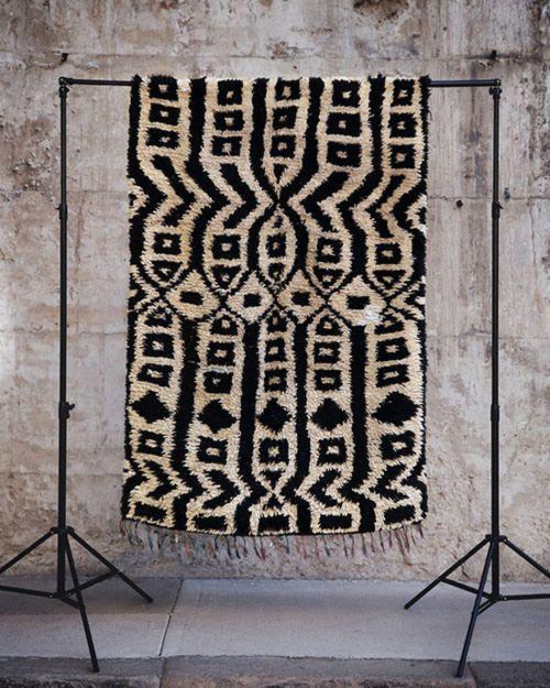 Boucherouite Moroccan rug. Fossik.