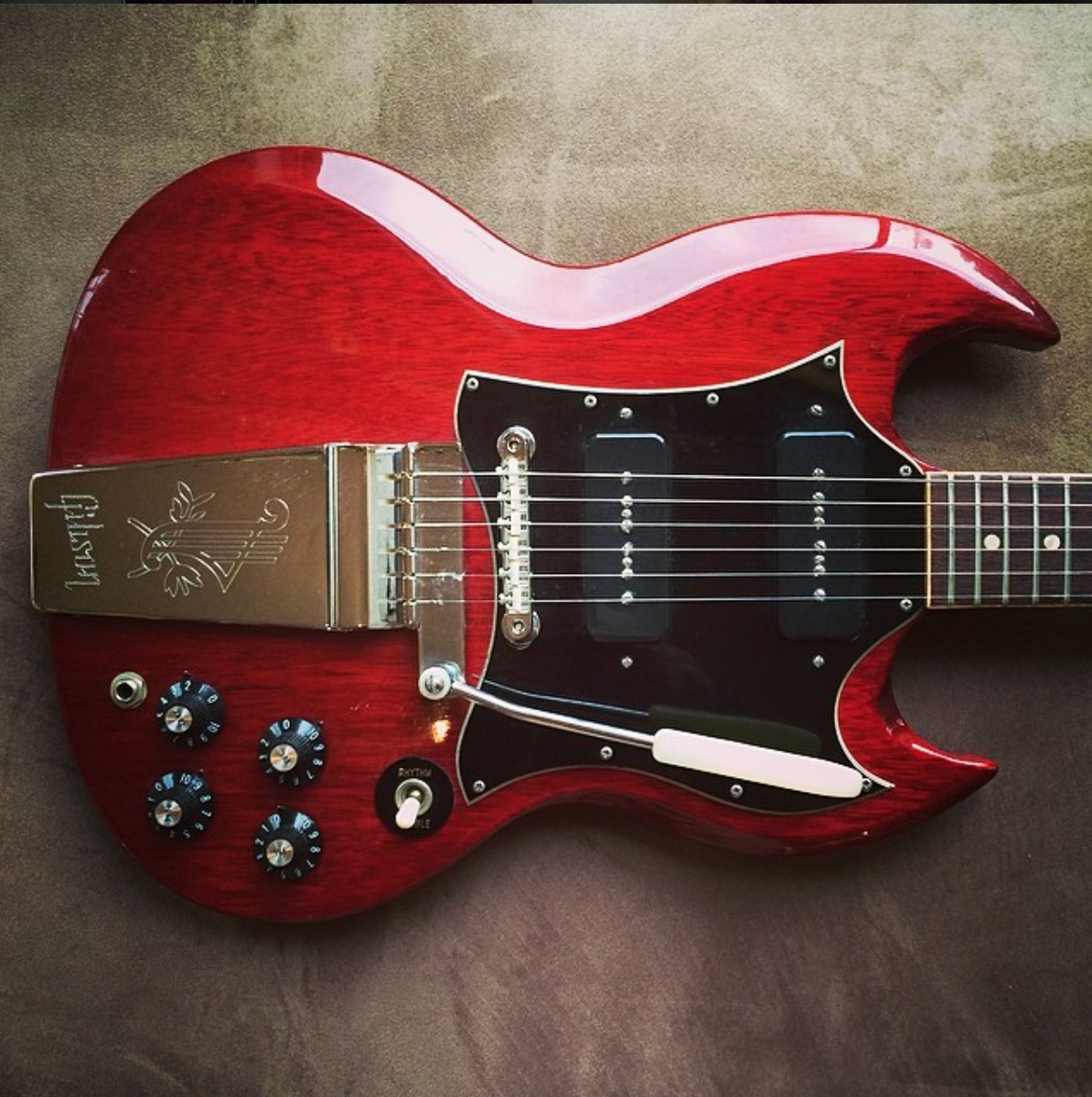 1969 gibson sg special cherry rumbleseatmusic [ 1194 x 1200 Pixel ]